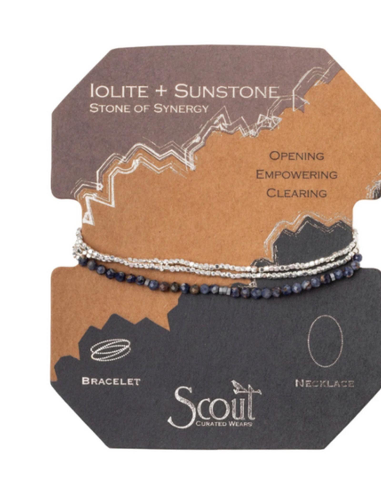 Scout Delicate Wrap Iolite & Sunstone