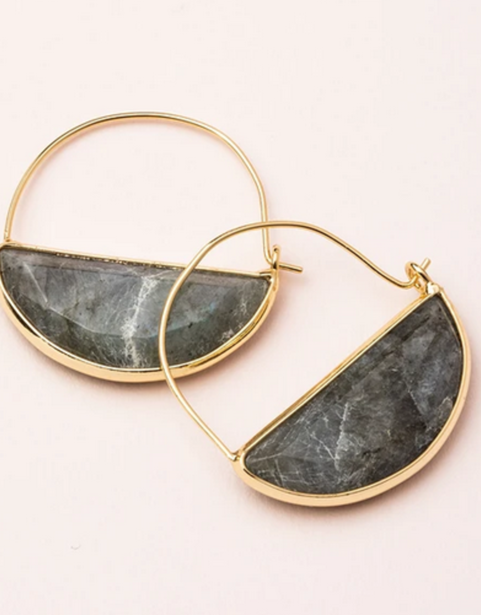 Scout Prism Hoops Earrings - Labradorite