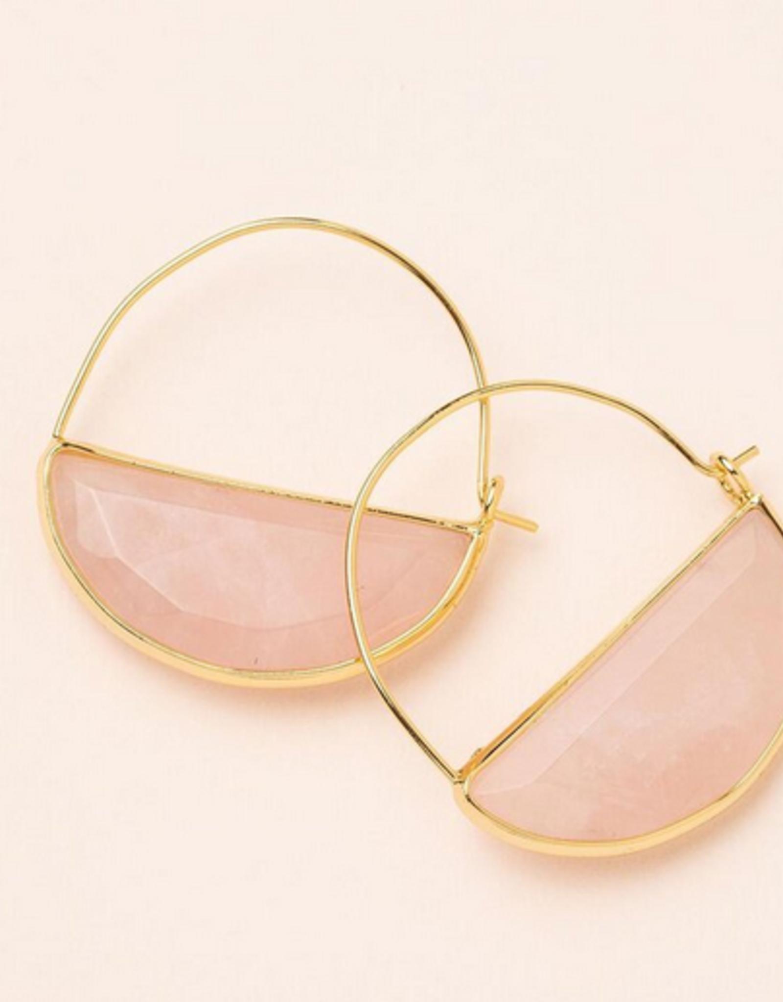 Scout Prism Hoop Earrings - Rose Quartz