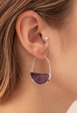 Scout Prism Hoop Earrings - Black Spinel