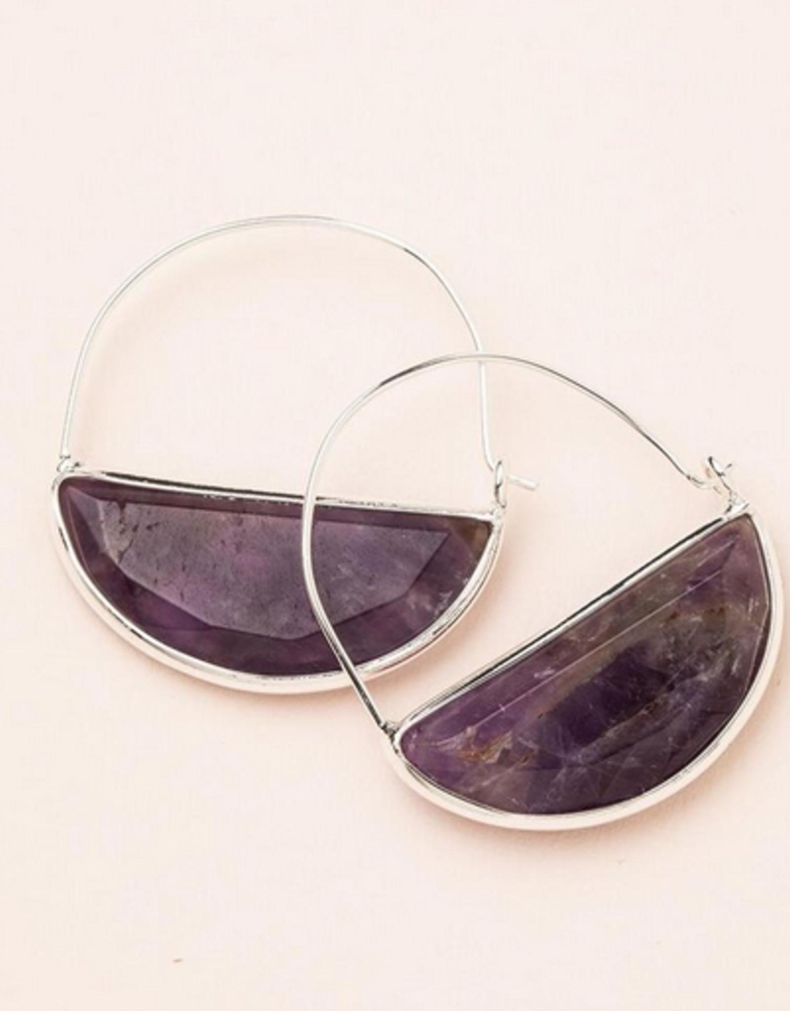 Scout Prism Hoop Earrings - Amethyst