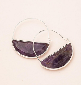 Scout Prism Hoops Amethyst Silver