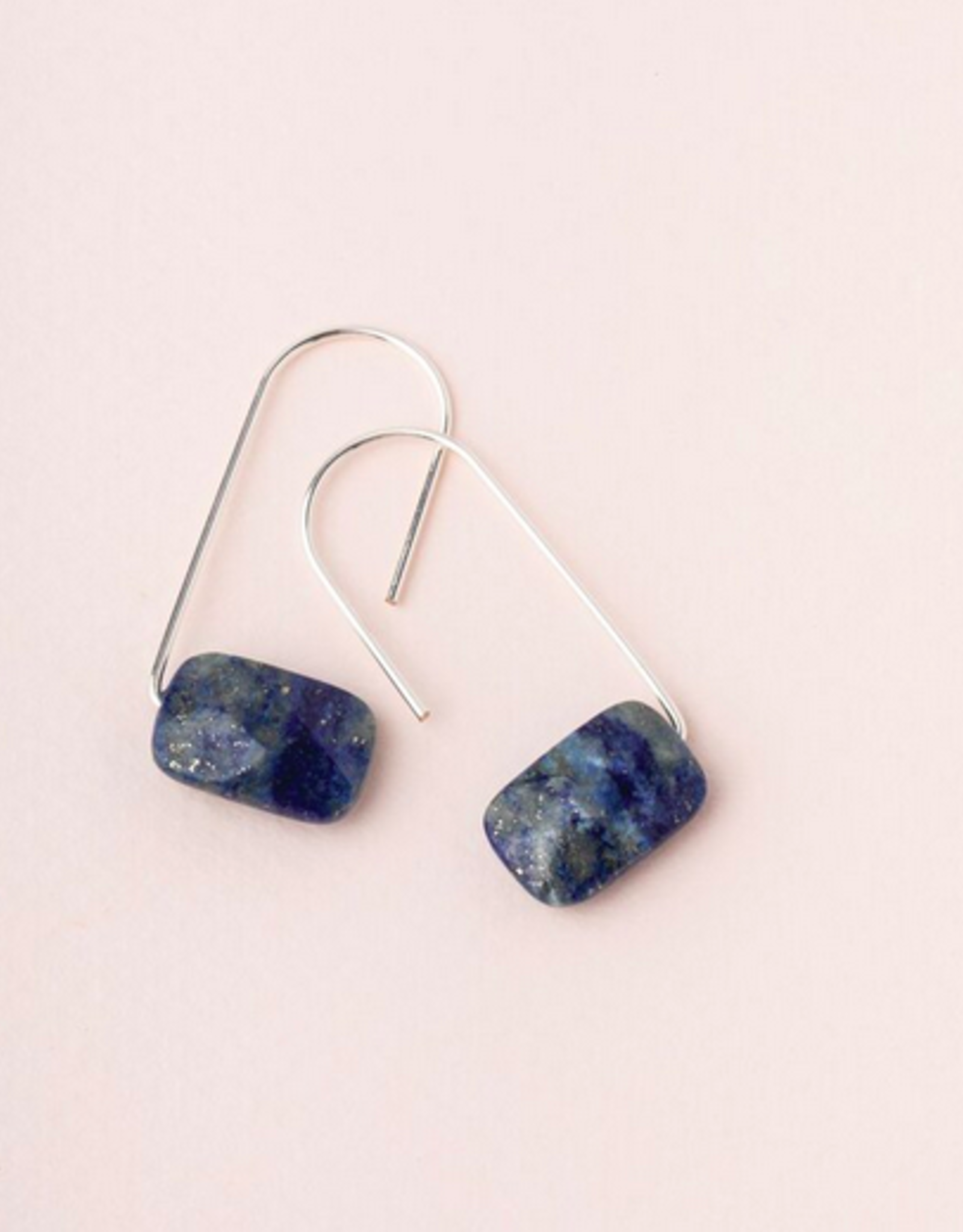Scout Floating Stone Earrings - Lapis