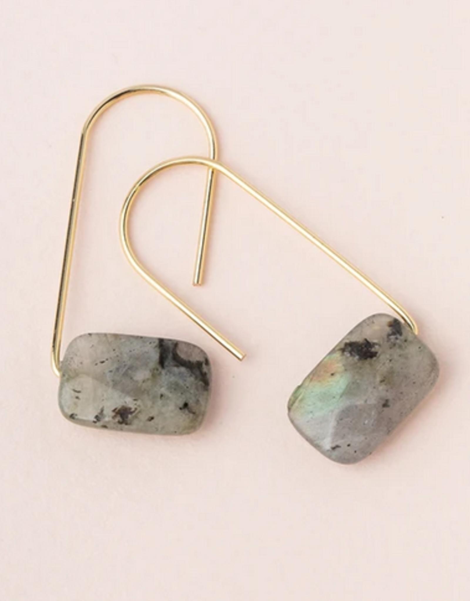 Scout Floating Stone Earrings  - Labradorite