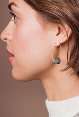 Scout Floating Stone Earrings - Picasso Jasper - EF006