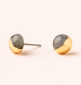 Scout Dipped Studs Labradorite