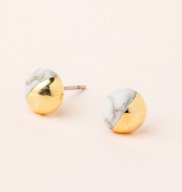 Scout Dipped Studs Howlite