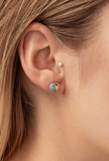 Scout Stone Dipped Studs - Howlite