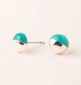 Scout Dipped Studs Turquoise