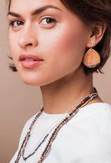 Scout Teardrop  Dipped Earrings - Rose Quartz