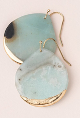 Scout Teardrop Dipped Earrings - Amazonite