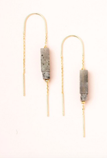 Scout Stone Thread Earrings - Labradorite
