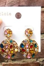 Gemstone Statement Earrings