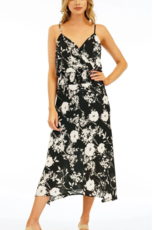 Smocked Waist Floral Midi Dress