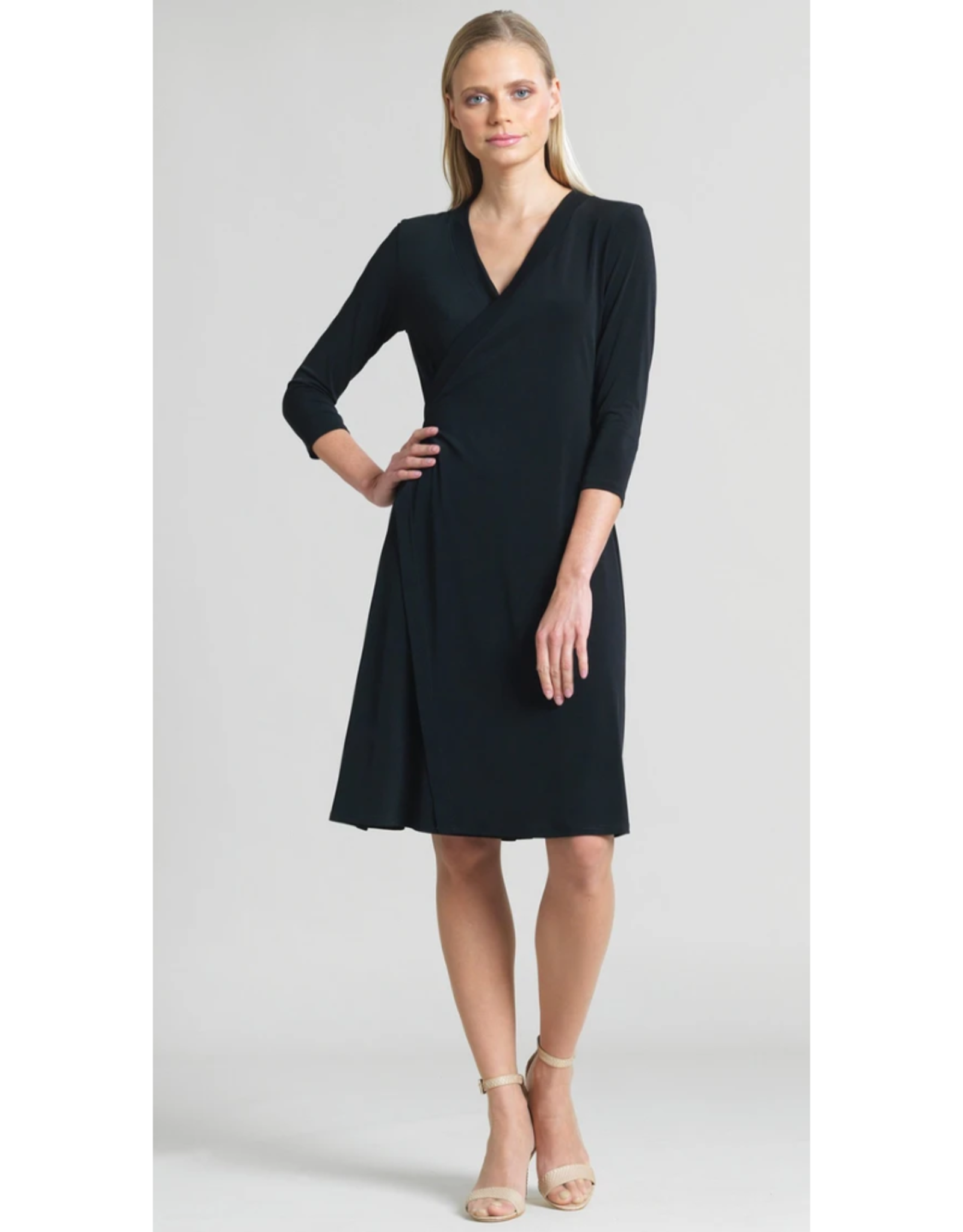 Faux V-Neck Wrap Dress