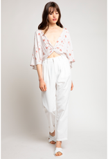 Twist Front Floral Top
