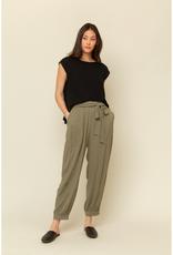 Front Tie Textured Pants
