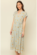 Bias Trim  Floral Dress