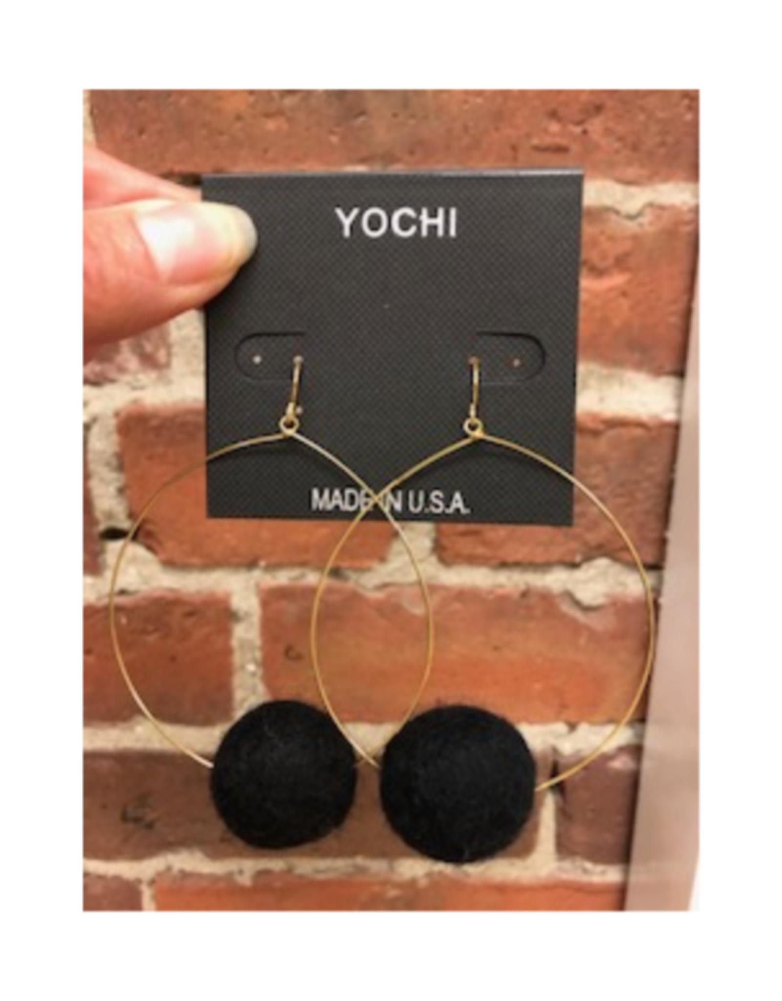 Large Pom Pom Earrings - 4 Colors