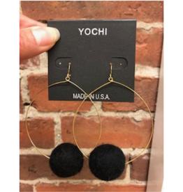 Pom Pom Earrings - Large