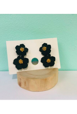 Coated Metal Flower Studs