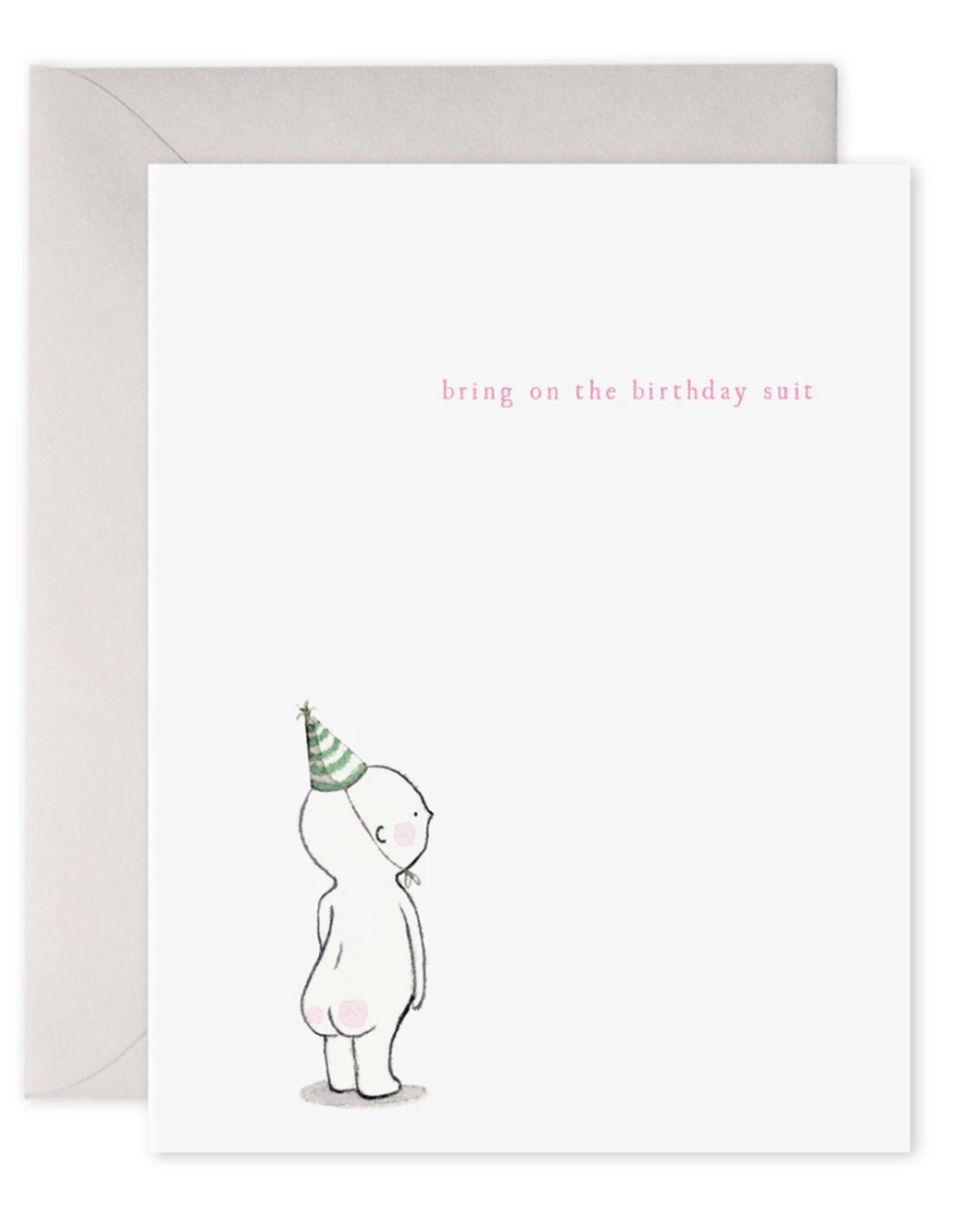 """""""Birthday Suit"""" Birthday Card"""
