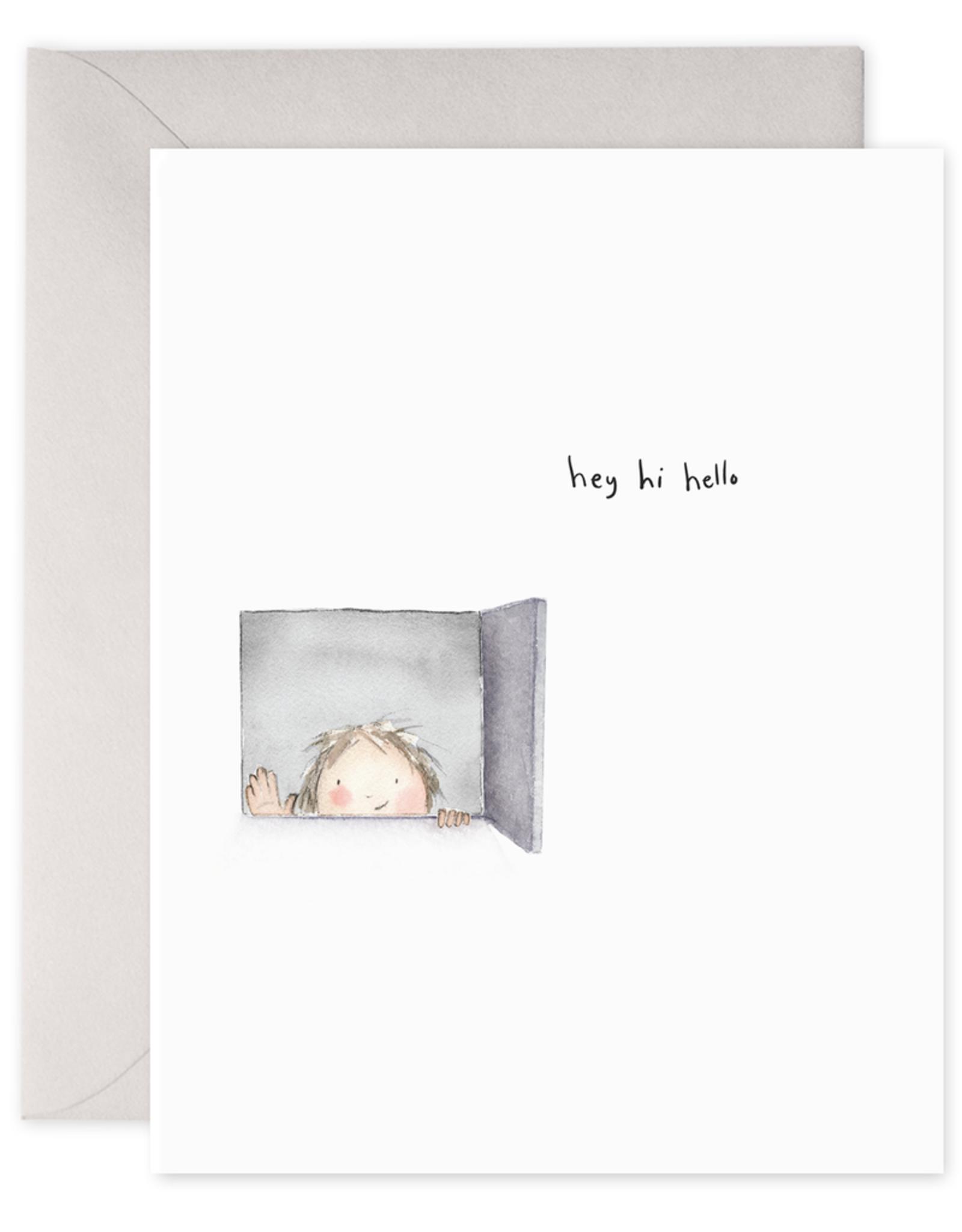 """""""Hey, Hi, Hello"""" Greeting Card"""