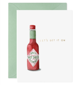 """Hot Sauce"" Greeting Card"