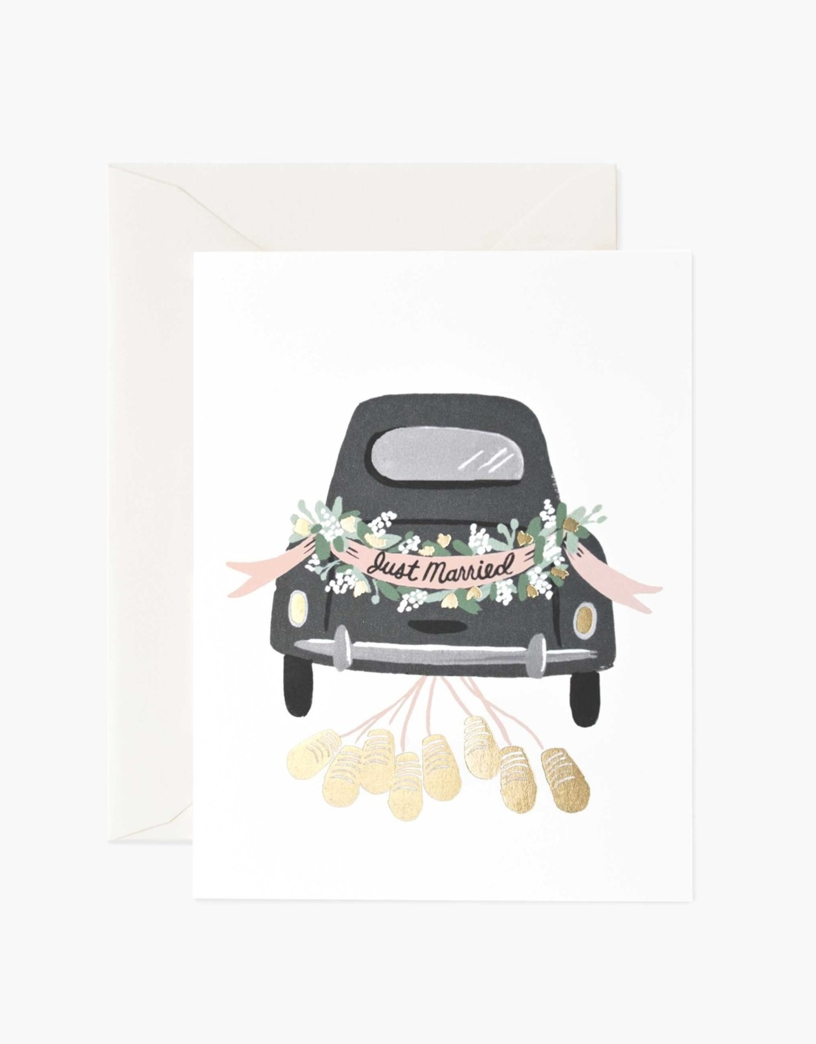 """Just Married"" Greeting Card"