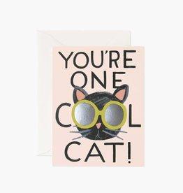 """Cool Cat"" Greeting Card"