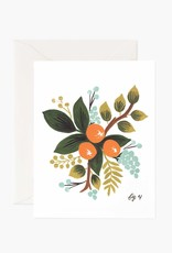 """Clementine Floral"" Greeting Card"