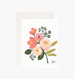 """Peony Pink"" Greeting Card"