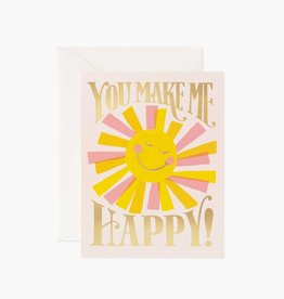 """You Make Me Happy"" Greeting Card"