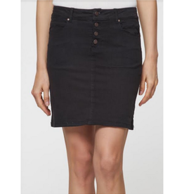 Button Fly Mini Skirt