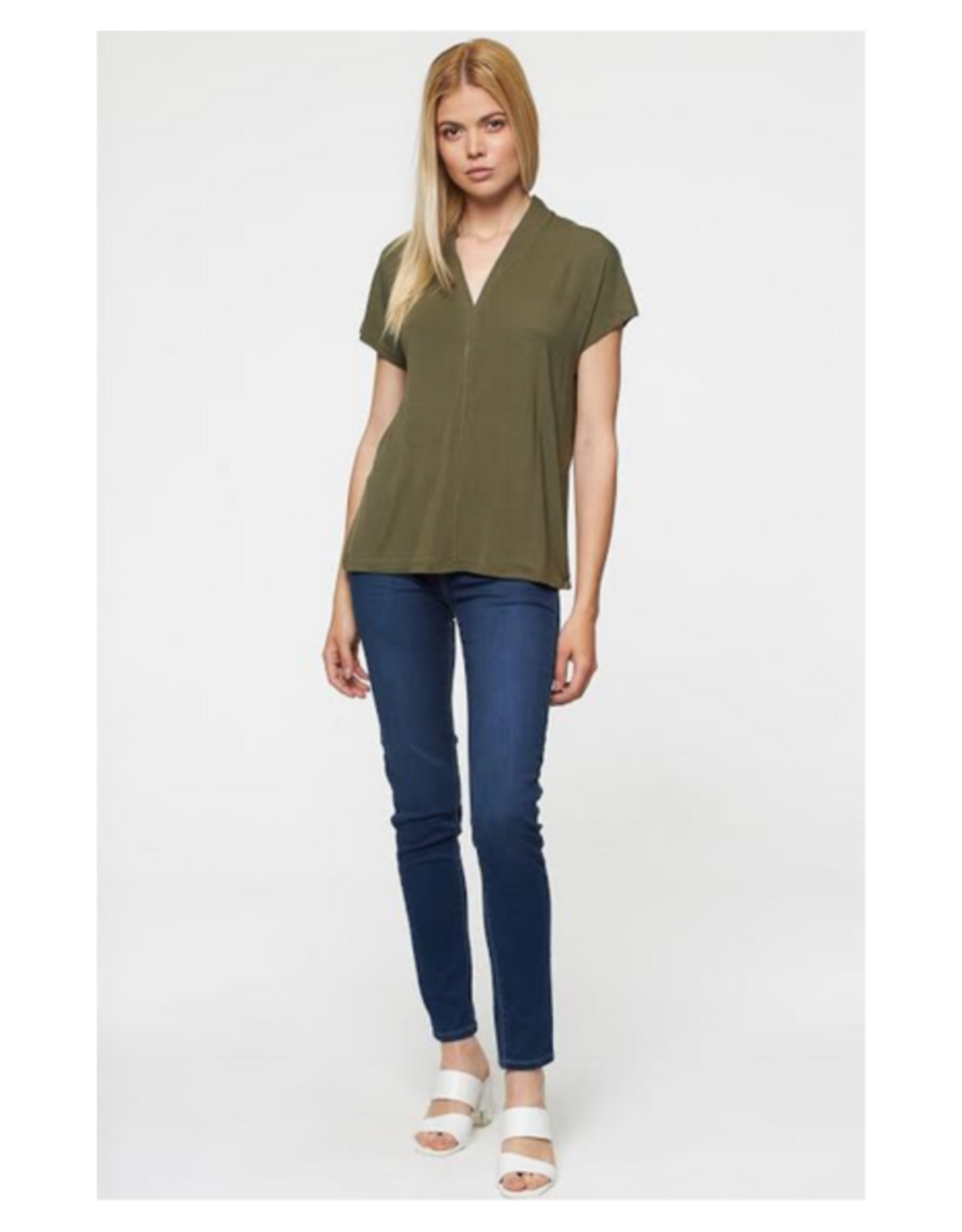 Split Neck Tee - 3 Colors