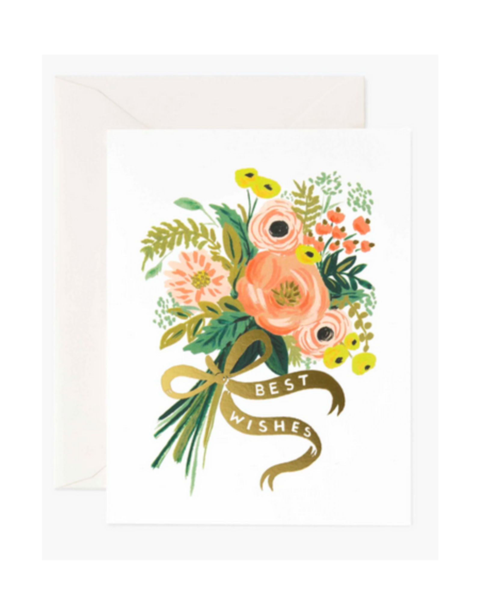 """""""Best Wishes"""" Floral Greeting Card"""