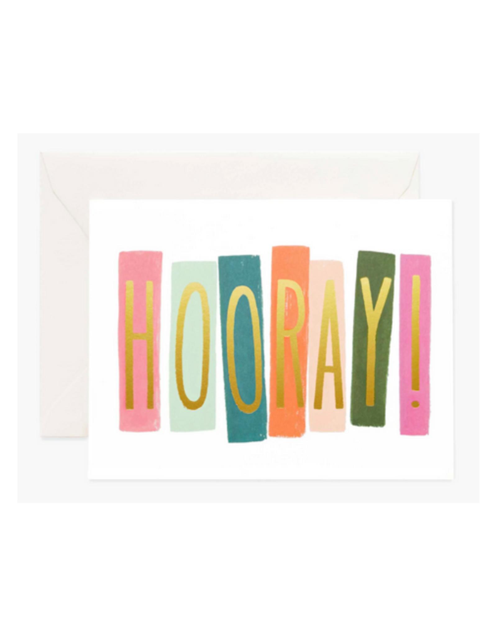 """Hooray"" Greeting Card"