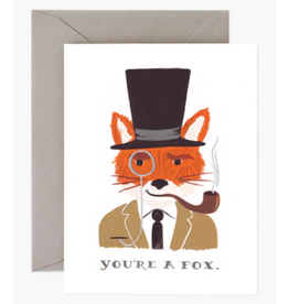 """You're a Fox"" Greeting Card"