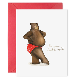 """It's Your Lucky Night"" Greeting Card"
