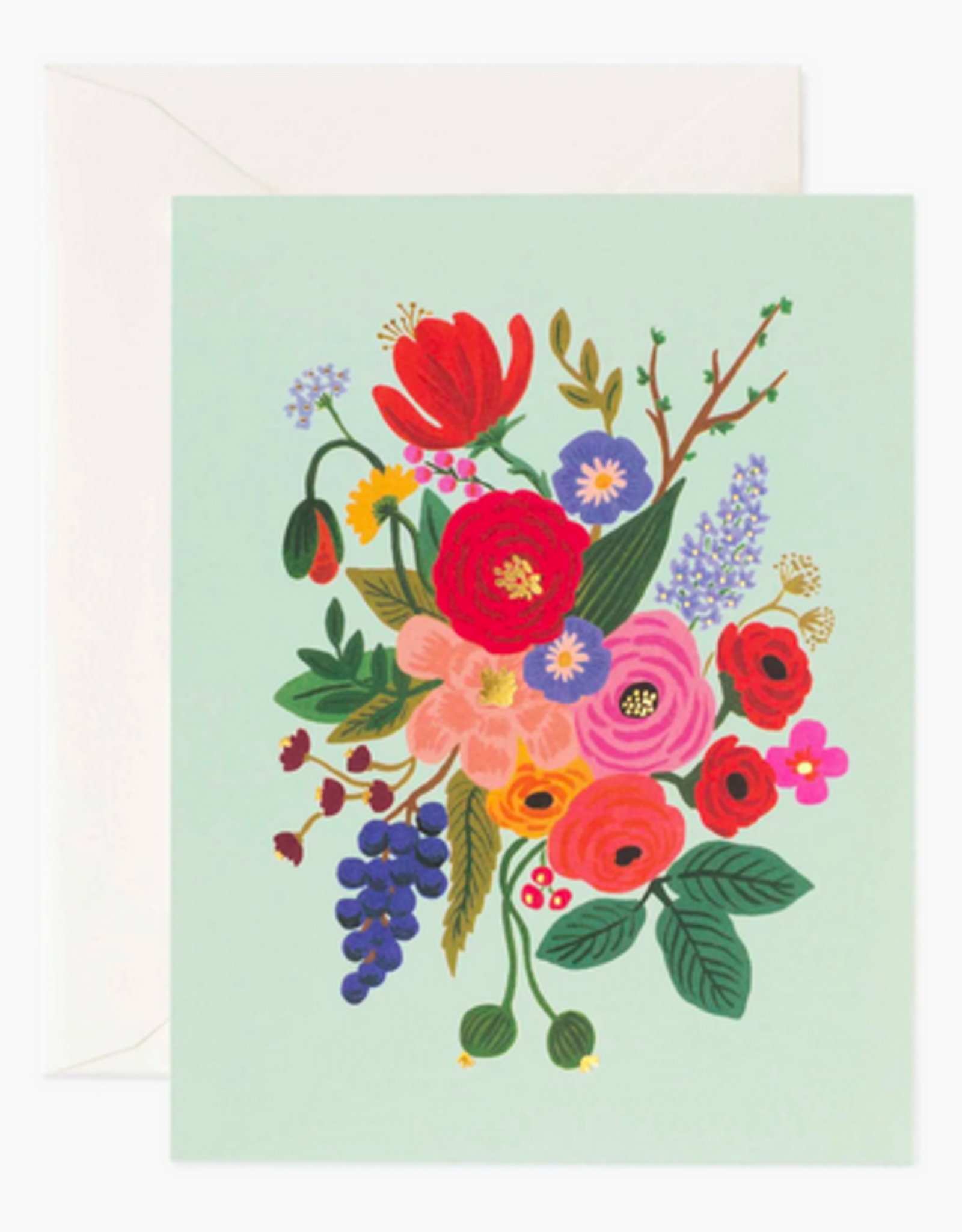 Mint Green Floral All Occasion Card