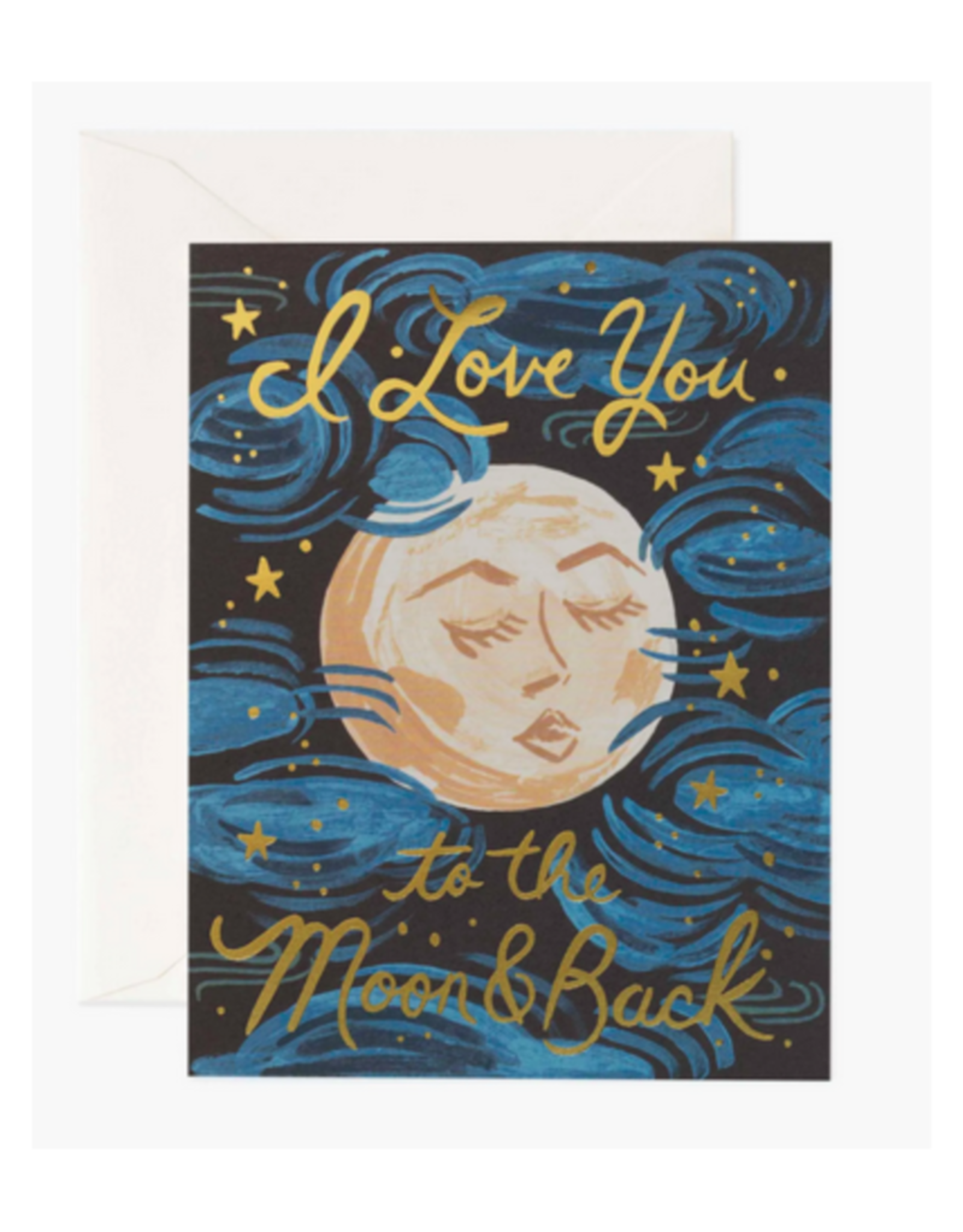 """I Love You to the Moon and Back"" Greeting Card"