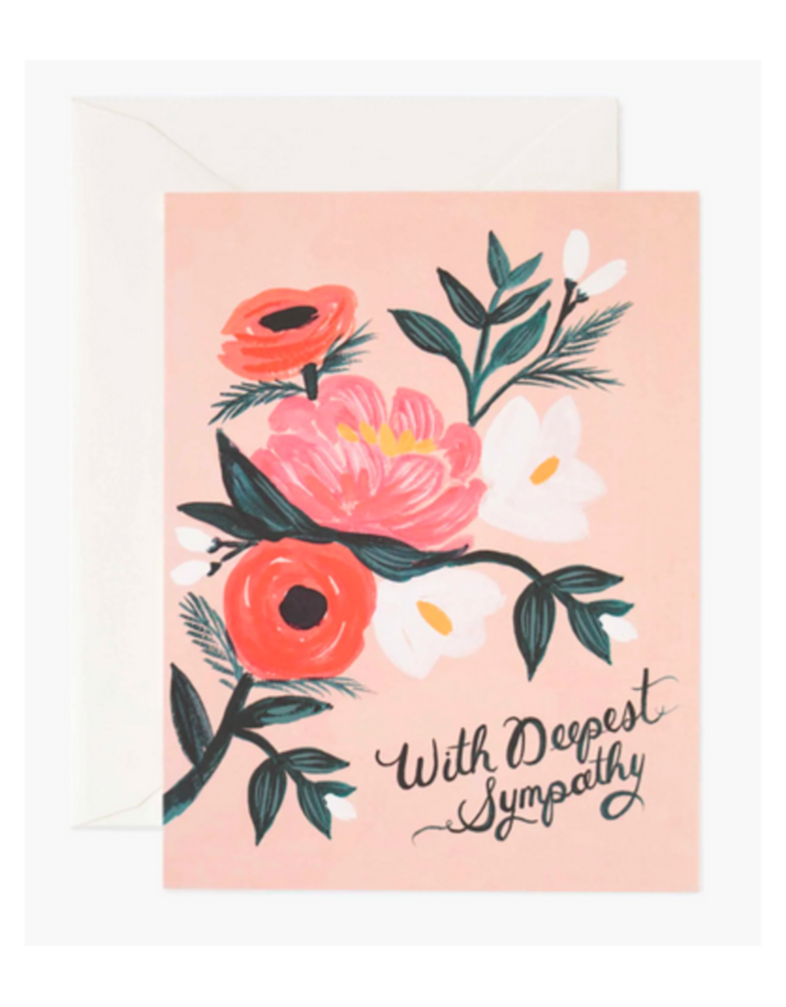 """""""With Deepest Sympathy"""" Greeting Card"""