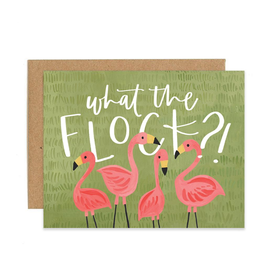 """What the Flock"" Greeting Card"