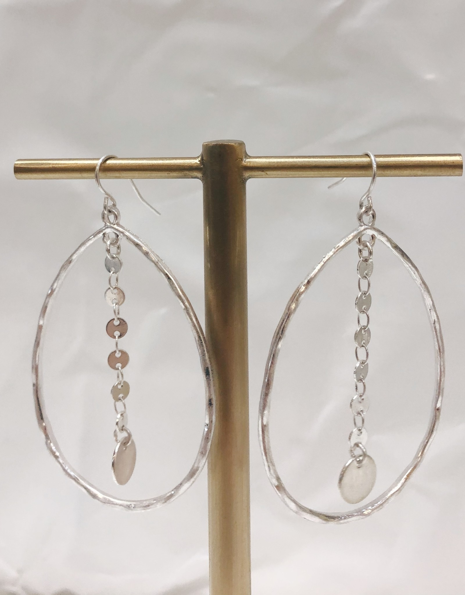 Teardrop Layered Dangle Earrings