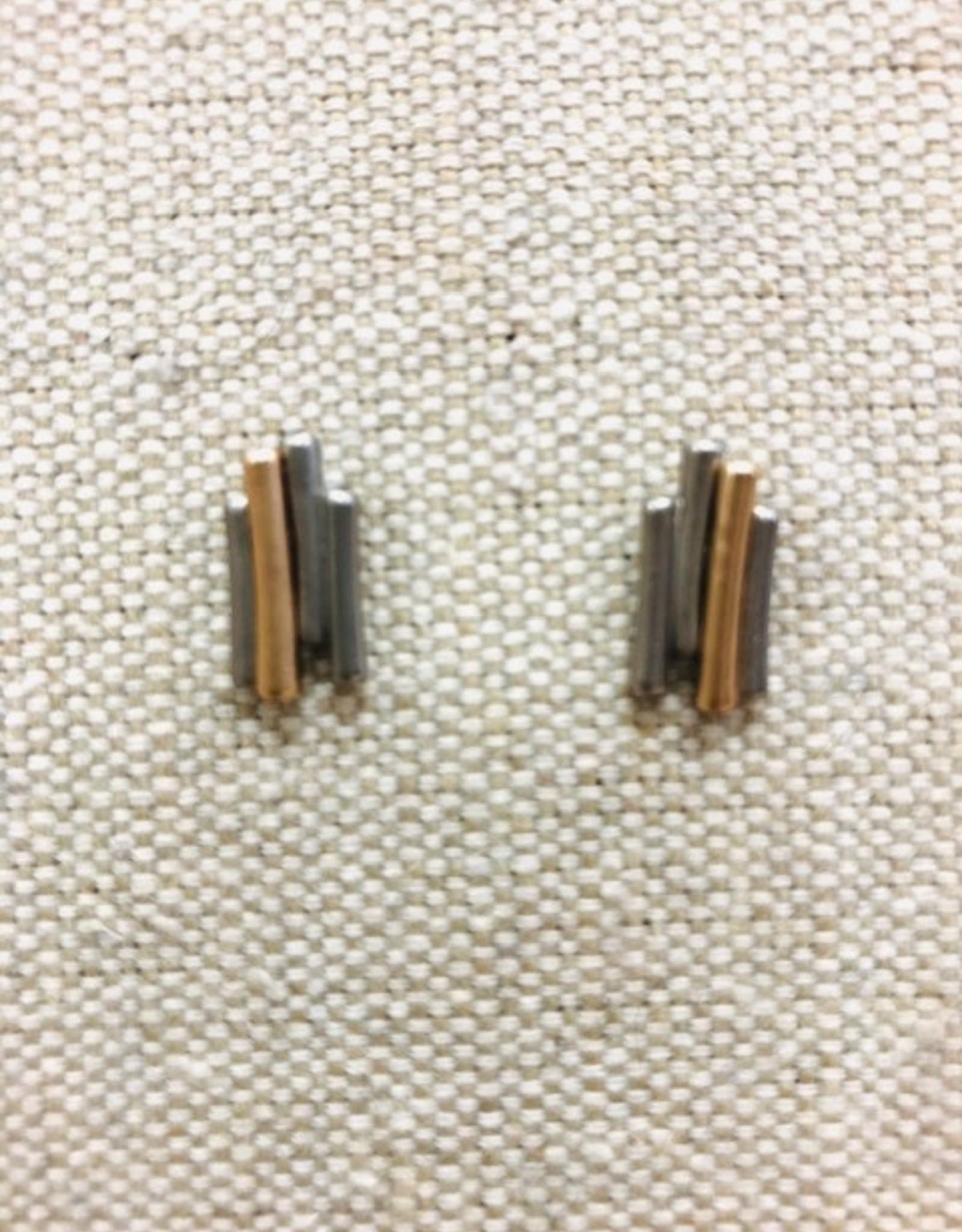 Two Color Bar Earrings