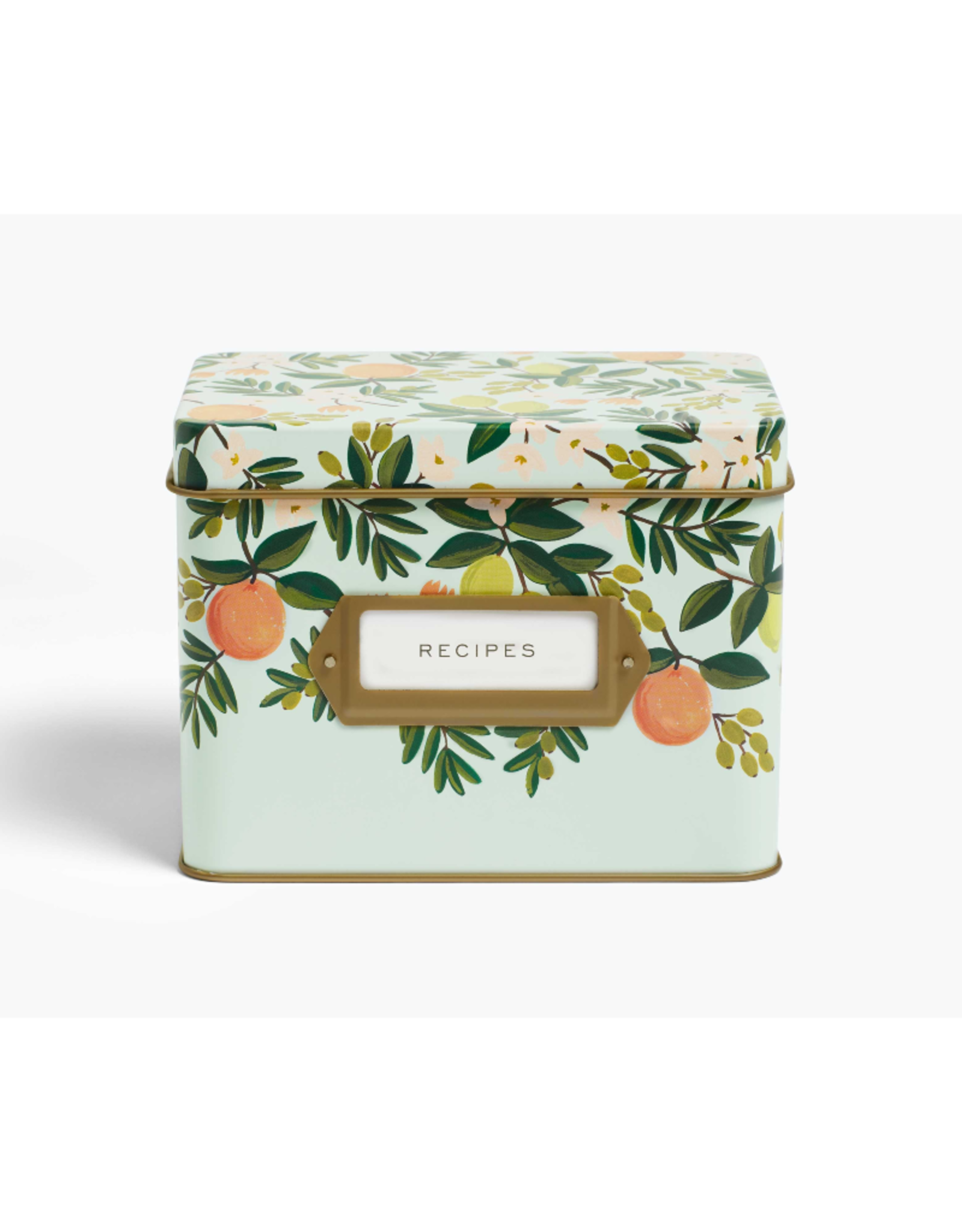 Recipe Box - Citrus Floral