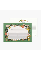 Recipe Cards - Citrus Floral