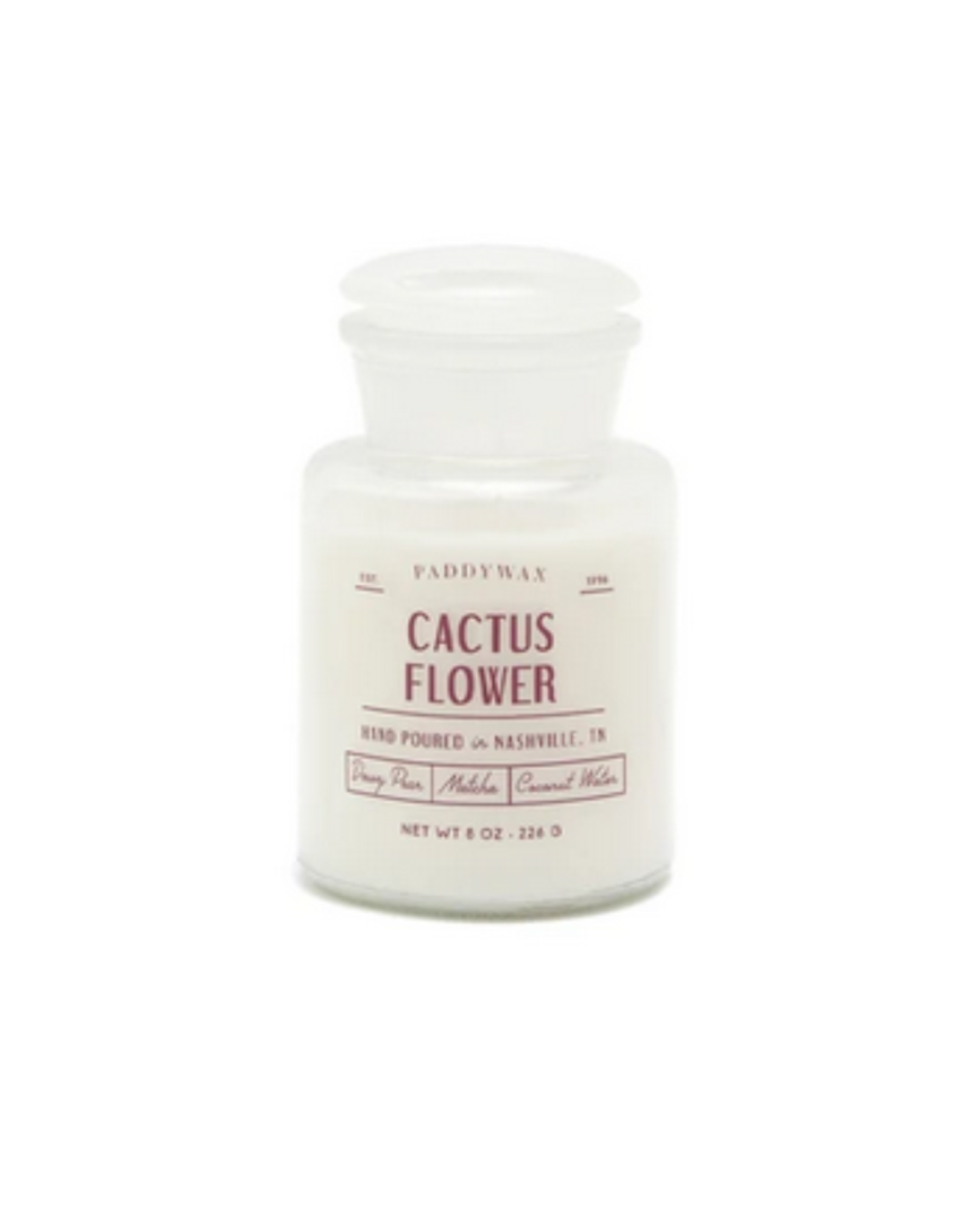 Farmhouse Cactus Flower Candle