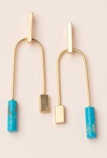 Scout Balance Earring - Turquoise/Gold