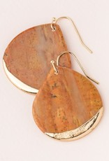 Scout Teardrop Earring - Petrified Wood